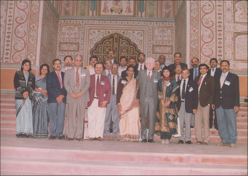 Figure 2: Some of the All India Institute of Medical Sciences alumni members in a conference in Jaipur (personal collection of Prof. Satish Jain)