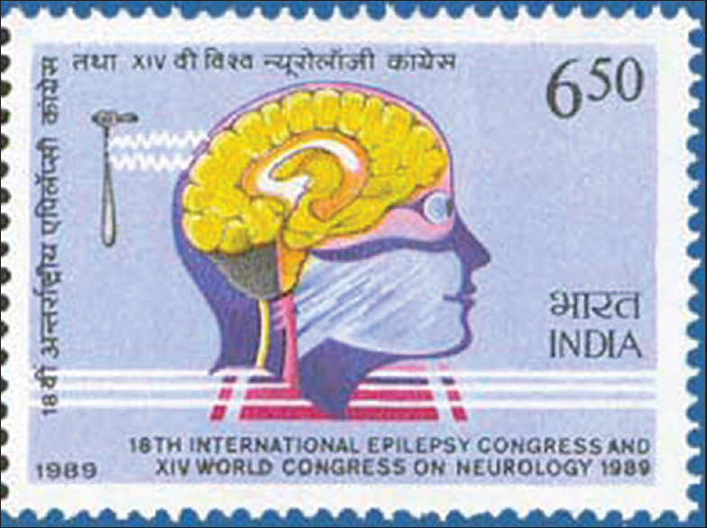 73b5dbefb4a Figure 14: Stamp released by the Postal Department of India to celebrate  the 14th Conference of World Federation of Neurology