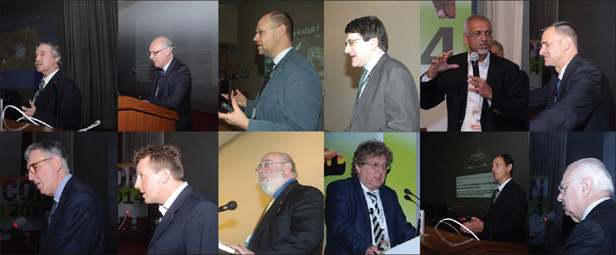 Figure 18: The international faculty members who delivered a talk at PGIMER, Chandigarh Top panel (left to right): Dr. Gordon Plant; Dr. Christopher Kennard, Dr. John Duncan, Dr. Simon Shorvon, Dr. Kapil Sethi, Dr. Craig Blackstone; Bottom panel (Left to right): Dr. Alastair Compston; Dr. Guy D Thwaites; Dr. Allen Hauser, Dr. H P Hartung, Dr. Andrew Charles, Dr. Raad Shakir