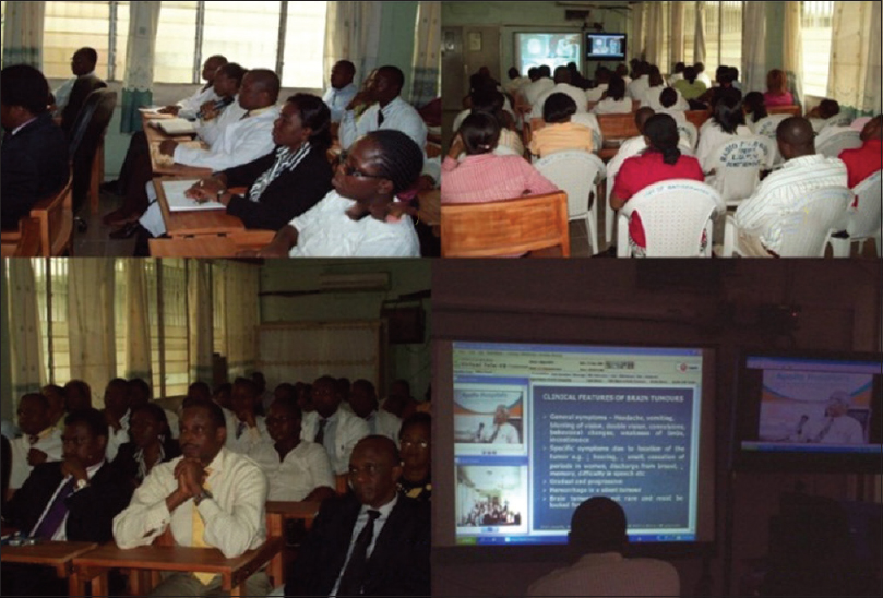 Figure 3: Tele-lecture from Chennai to doctors in African Countries