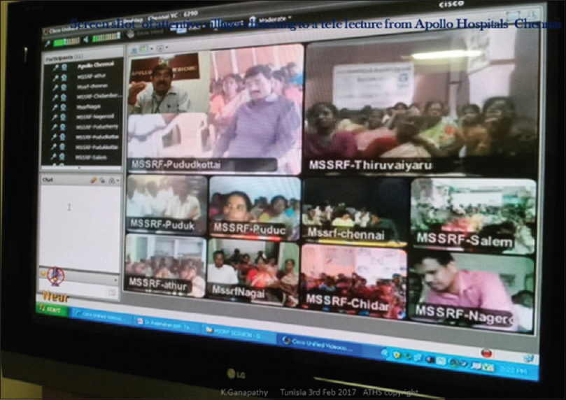Figure 4: Talk on 'Headache' to 267 people in 13 villages (10 on screen)