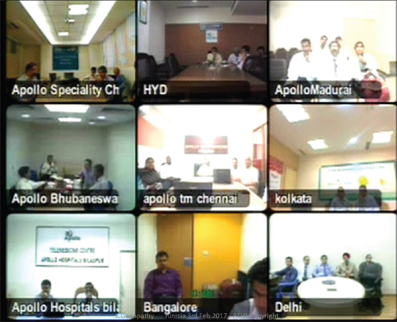Figure 5: Grand Rounds for DNB candidates through video conferencing