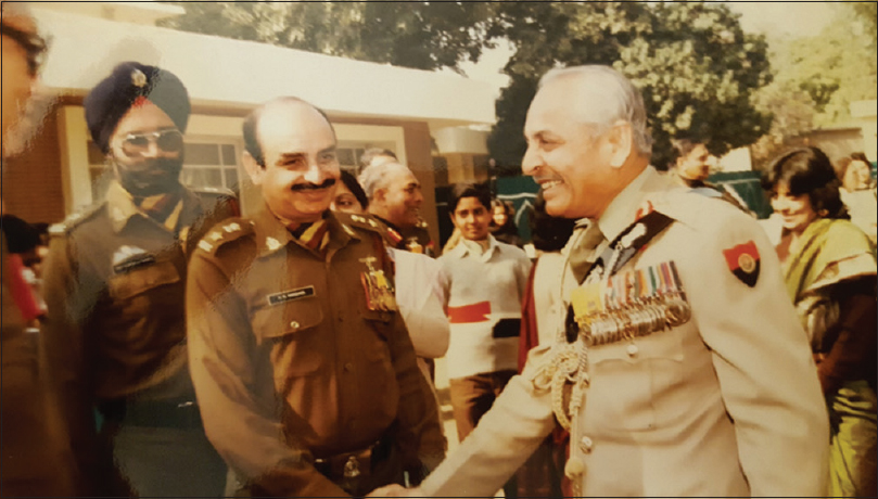 Figure 5: Lt. Col. Madan with the Army Chief after the investiture
