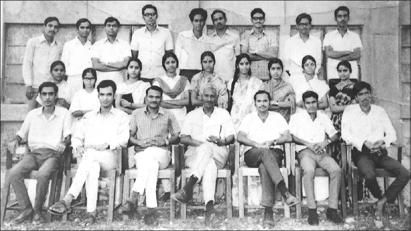 Figure 4: The first batch of graduates of the Corporation Medical College, 1971. The author is in the last row, right hand corner (standing)