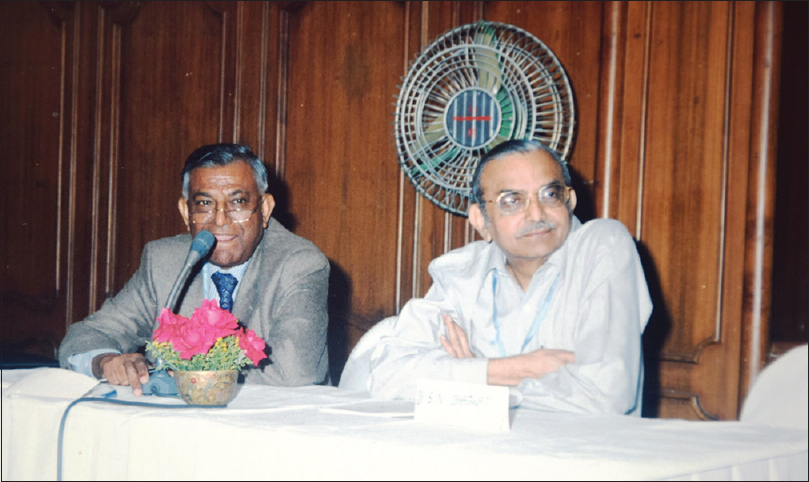 Figure 9: Micro-neurosurgical workshop 1998. Dr. RP Sen Gupta, Dr. SN Bhagwati