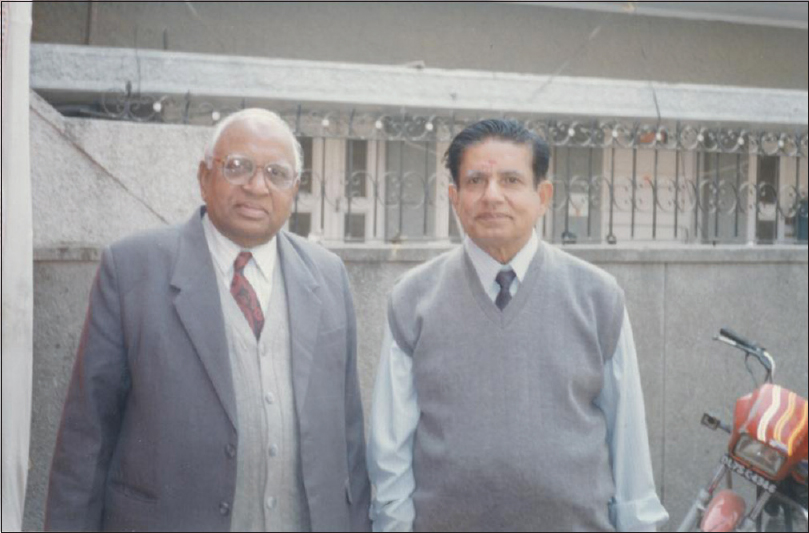 Figure 11: Dr. Chari with his PhD student, Dr. D.K. Balani