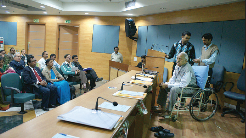 Figure 14: 25<sup>th</sup> Anniversary of Bhopal gas disaster: Extempore oration by Dr. Chari at VPCI, New Delhi, 3<sup>rd</sup> December 2009