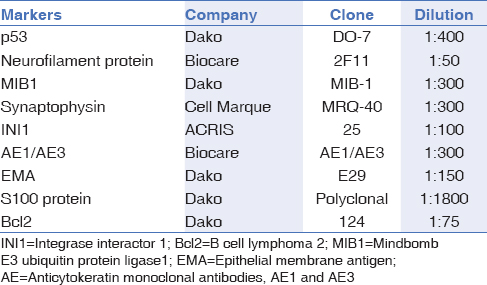 Table 1: Technical details of the antibodies used in this study